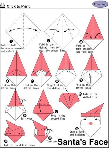Easy Santa Origami - 58 best ideas about origami santa on watches