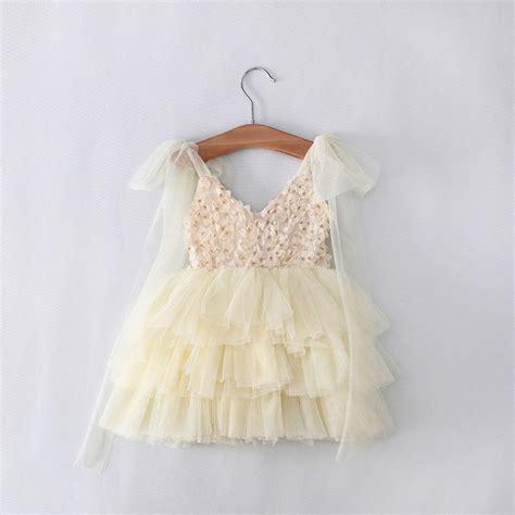 Dress Petal Princess dress toddler baby princess pageant dress petal dresses 2 8y dresses