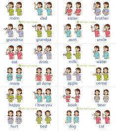 asl colors baby sign language chart