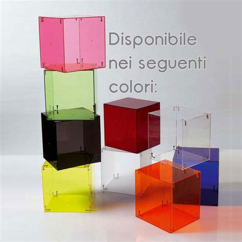comodino cubo comodino cubo vintage realizzato con tre cubi 2 ante e tre