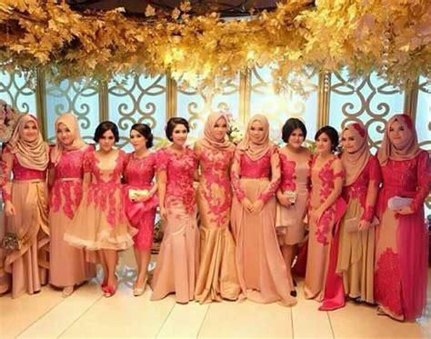 Seragam Batik Pernikahan contoh desain busana muslim dress wanita untuk seragam