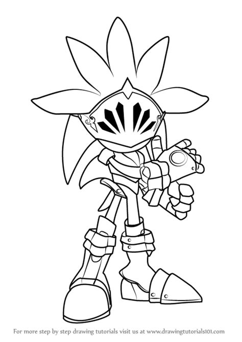 Step by Step How to Draw Sir Galahad from Sonic the