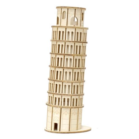 Cubic Puzzle 3d Leaning Tower Of Pisa Large Size ki gu mi plywood puzzle leaning tower of pisa kigumi wooden 3d wooden puzzle