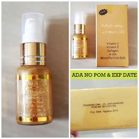 Serum Muka jual serum emas whitening serum gold multifungsi dan