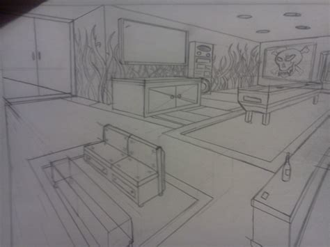 4 Bedroom Mobile Homes 2 Point Perspective Room By Jpaulsondesign On Deviantart