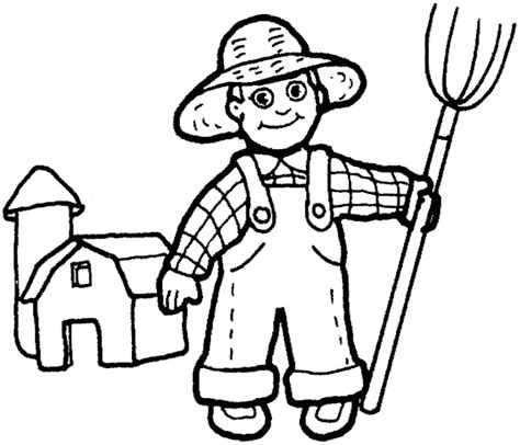 free coloring pages of farmer man