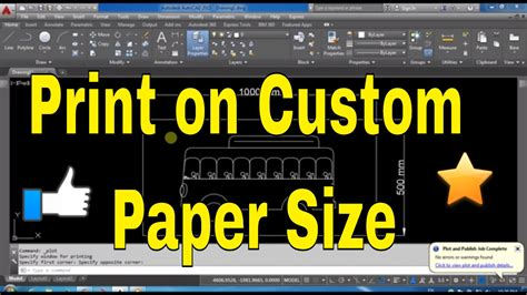 autocad tutorial how to print autocad tutorial how to print layout on custom paper