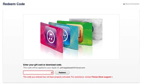 Activate Itunes Gift Card Codes - redeem and use itunes gift cards and content codes apple support