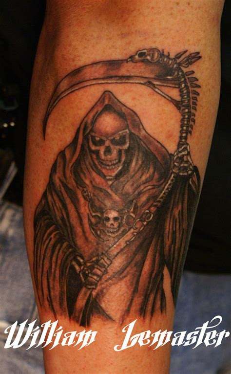 grim reaper forearm tattoo grim reaper arm related keywords grim reaper arm