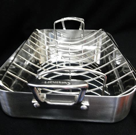 Cuisinart 16 Roasting Pan With Rack by Cuisinart 16 Quot Rectangular Stainless Roasting Pan With Rack