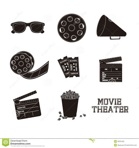 Icon Cinema Gift Card - cine icons stock photography image 30331322