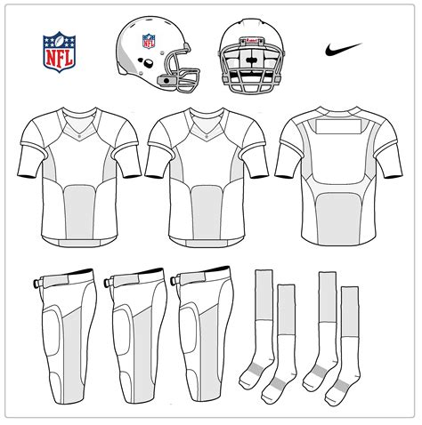 best photos of football uniform template nike football