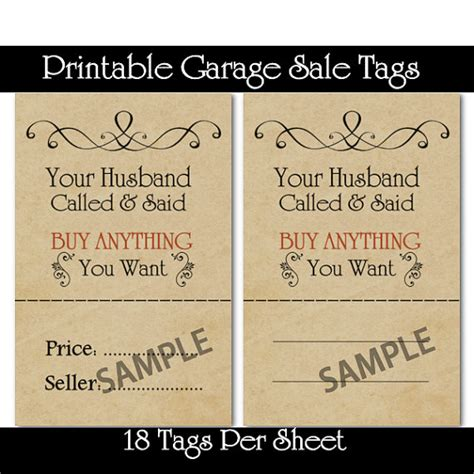 printable sales quotes printable garage and yard sale price tags tips on how to