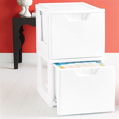 Stackable File Drawers by White Stackable Storage File Drawer The Container Store