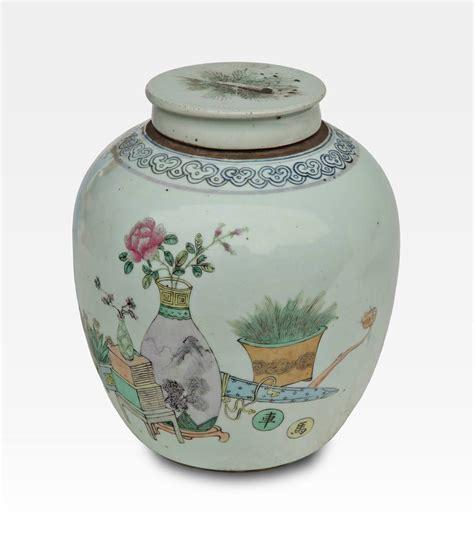 vasi cinesi di valore vaso cinese dipinto con coperchio porcellana cod 0016