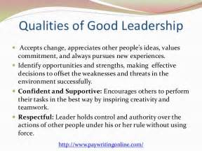 Characteristics Of A Leader Essay essay on characteristics of a leader