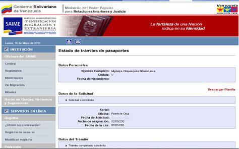 sim estado de un tramite pasos para solicitar el pasaporte venezolano agenda viajera