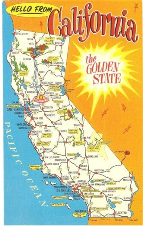 california map golden state california golden state map vintage postcard