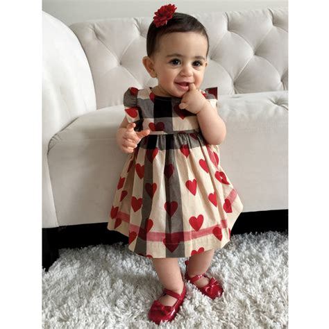 Dress Of The Day B With G Baby Doll Dress 2 by Burberry Baby Checked Cotton Dress With Hearts