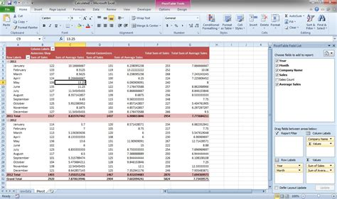 Pivot Table Excel 2010 by Excel 2010 Pivot Tables Creating Calculated Field In
