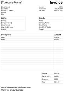 Invoice Template For Word 2003 by Invoice Template For Word Free Simple Invoice