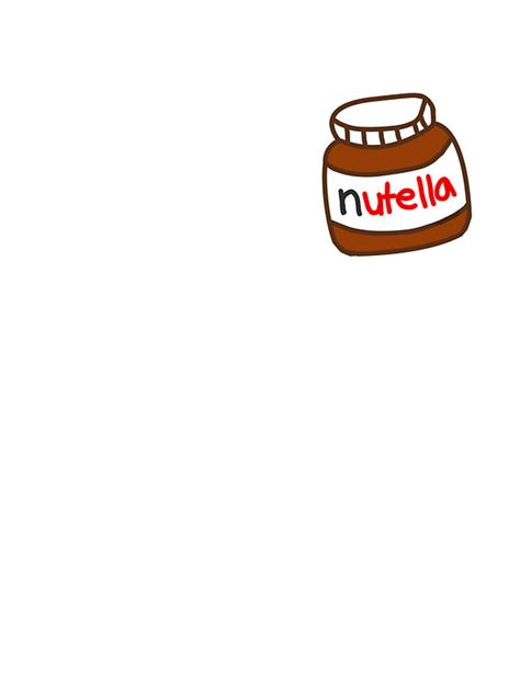 Home Artwork Decor by Quot Cute Nutella Pattern Quot Stickers By Deathspell