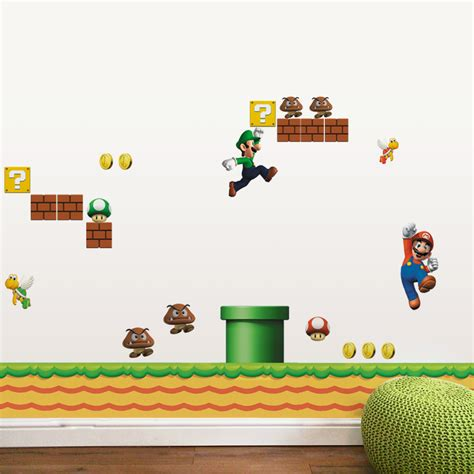 super mario home decor super mario wall stickers for kids room home decor