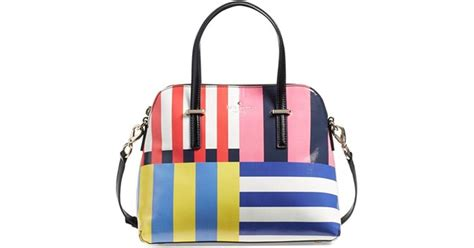 Dijamin Kate Spade Maise Stipes kate spade flag stripes maise satchel in multicolor multi lyst