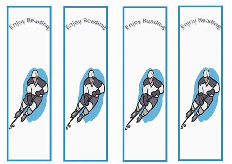 Free Printable Hockey Bookmarks | hockey bookmarks birthday printable