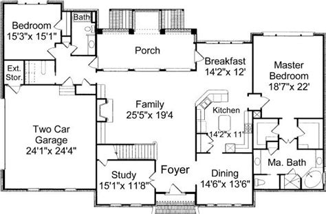 open floor plans for colonial homes 4 bedroom 3 bath colonial house plan alp 035r