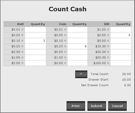 money count sheet template counting and reconciling the drawer golfnow