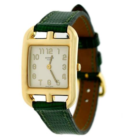hermes yellow gold cape cod wristwatch at 1stdibs