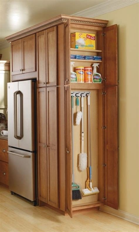 kitchen cabinet com kitchen cabinet broom closet