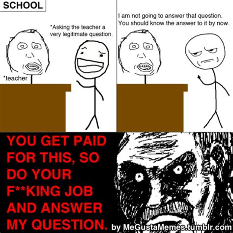 funny memes about school as funny memes about school already know the answer