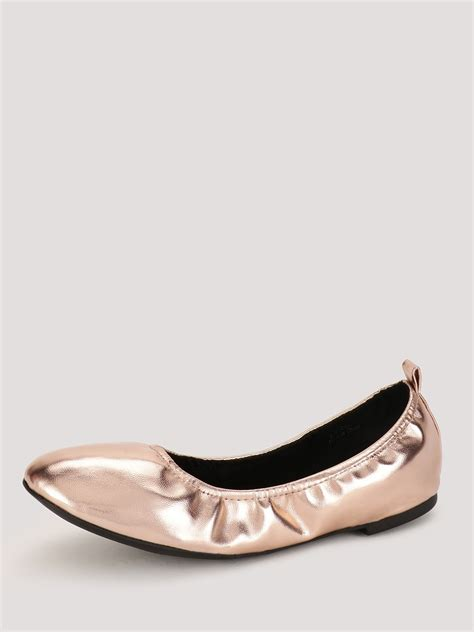 new look shoes flats buy new look metallic pu scrunch shoes for s