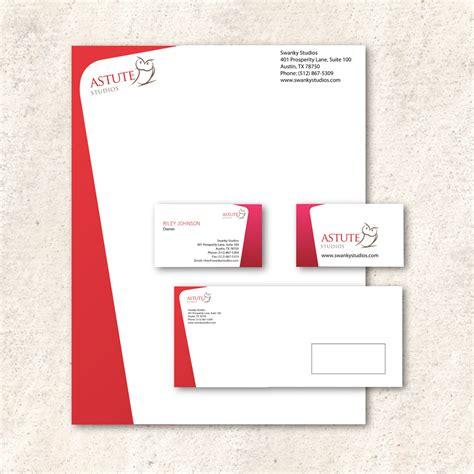 business card letterhead package astute