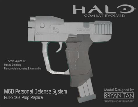 Pistol Papercraft - halo m6d pistol papercraft replica by rocketmantan on