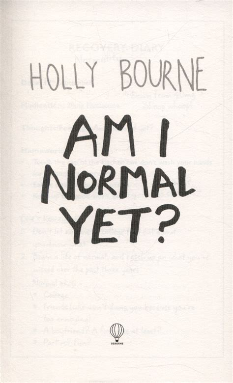 am i normal yet by bourne holly 9781409590309 brownsbfs - 1409590305 Am I Normal Yet
