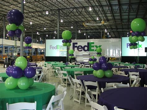 fedex corporate event south florida balloon decoration www