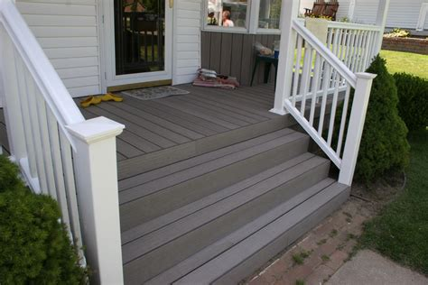 Composite Flooring For Porches composite porch flooring timber tech and vinyl railing