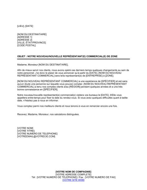 lettre de remerciement nouveau poste annonce de nouveau repr 233 sentant commercial template sle form biztree