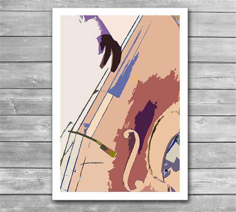 jazz print 60s jazz club decor music poster jazz home jazz bass illustration jazz jazz poster double bass music