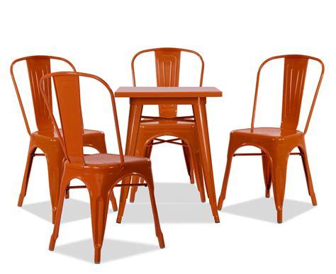 orange dining table set tolia metal bistro table set in orange dining tables