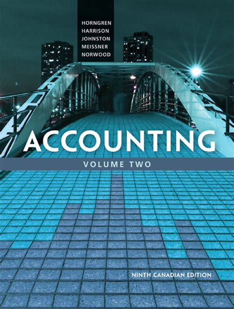 Accounting For Decision And 9e Zimmerman accounting volume 2 canadian 9th edition horngren