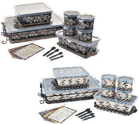 temp tations oven to table set temp tations essential 16 oven to table set qvc com