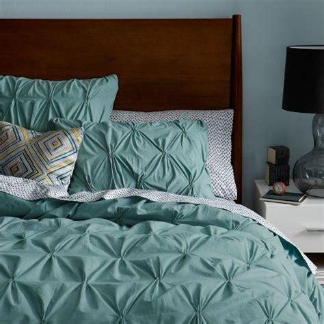 Pintucked Duvet Organic Cotton Pintuck Duvet Cover Shams Oceania