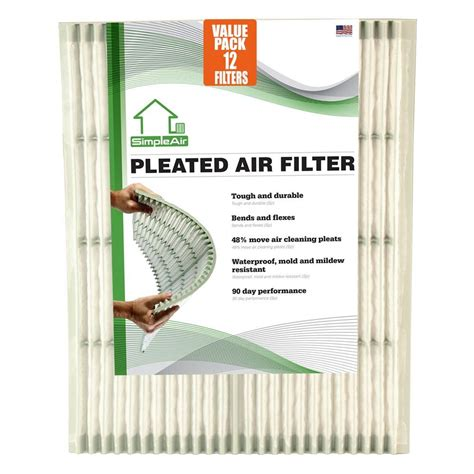 simpleair 16 in x 25 in x 1 in pleated fpr 6 air filter