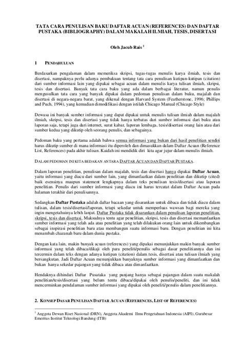 penulisan daftar pustaka report tata cara penulisan pustaka