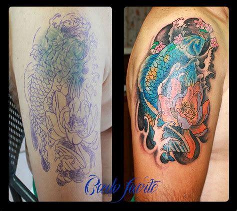 kulture tattoo japanese koi cover up kustom