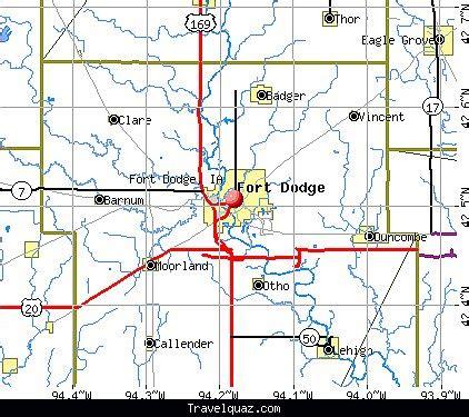 map of fort dodge travelquaz